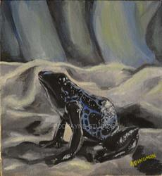 Art: Toy Frog by Artist Aimee L. Dingman