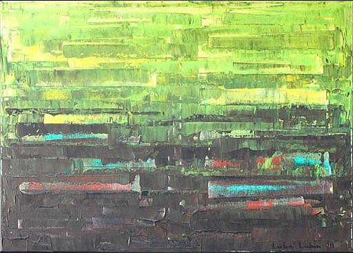 Art: Lime Green Abstraction (a) by Artist Luba Lubin