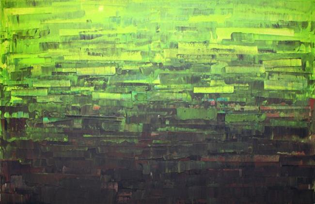Art: Lime Green Abstraction - 116 (s) by Artist Luba Lubin