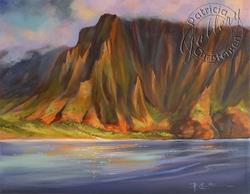 Art: Napali Coast, Kauai, Hawaii - (Sold) by Artist Patricia  Lee Christensen
