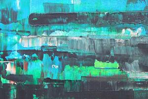Detail Image for art Blue - Green Abstraction - 124 (s)