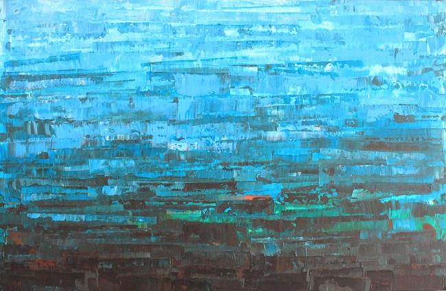 Art: Blue - Turquoise - Aqua - Abstraction 126 (s) by Artist Luba Lubin