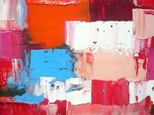 Detail Image for art Red Orange Abstraction 129 (s)