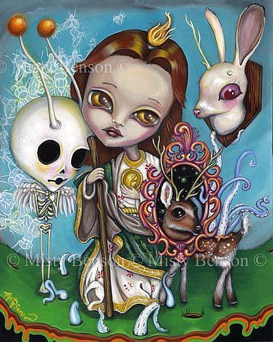 Art: Saint Jude by Artist Misty Benson