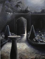 Art: The Moonlit Garden by Artist Justin Lowe