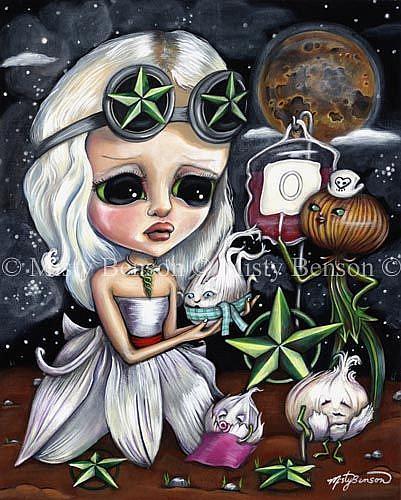 Art: Morbidly Adorable Tarot - Five Of Stars by Artist Misty Monster (Benson)