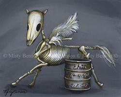 Art: Rhett - Skeleton Skelly Horse Art by Artist Misty Benson