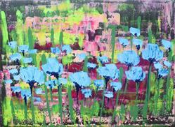 Art: Blue Flowers (s) by Artist Luba Lubin