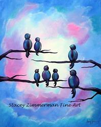 Art: Moonlight Seranade by Artist Stacey R. Zimmerman