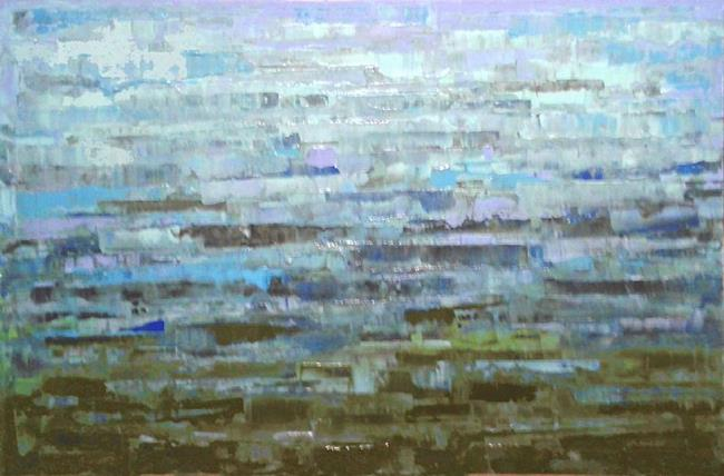 Art: Blue Abstraction 144 (s) by Artist Luba Lubin