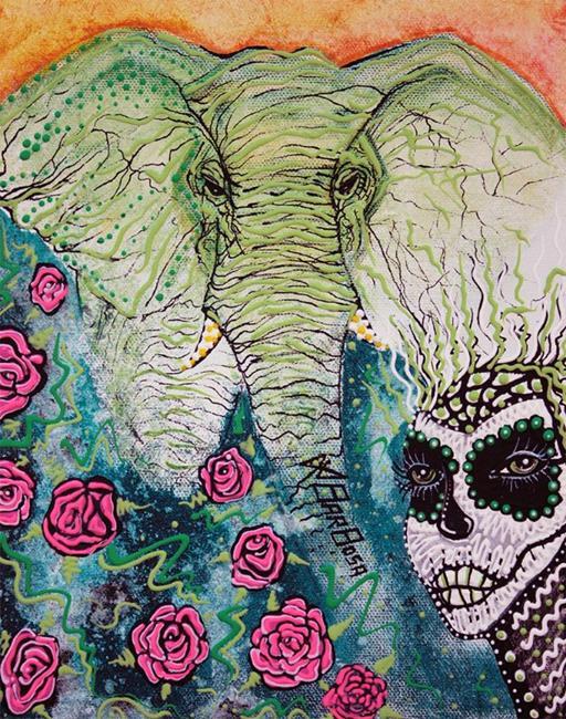 Art: Elephant Keeper by Artist Laura Barbosa