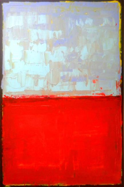 Art: Blue Red Abstraction 143 by Artist Luba Lubin