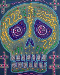 Art: Great Electric Skull by Artist Laura Barbosa