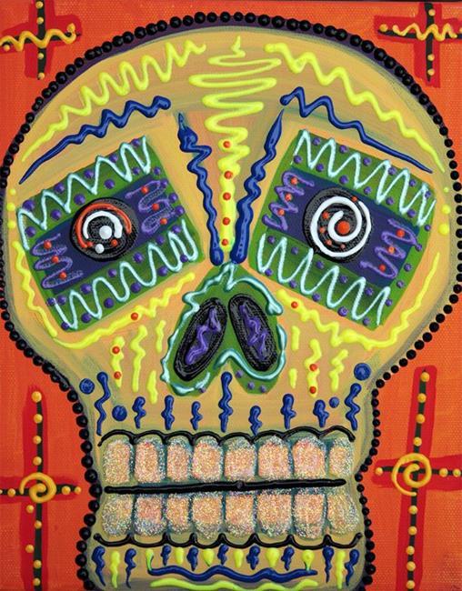 Art: Sugar Skull Delight by Artist Laura Barbosa