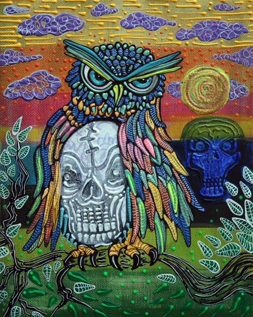 Art: Sacred Skull by Artist Laura Barbosa