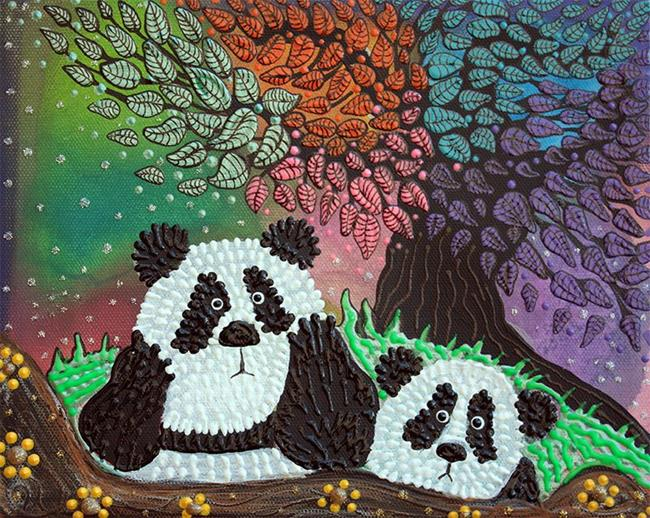 Art: Under The Rainbow Tree by Artist Laura Barbosa