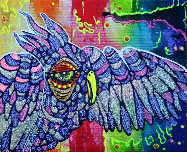 Art: Street Wise Owl by Artist Laura Barbosa
