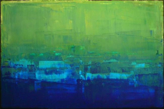 Art: Blue Green Abstraction 149 by Artist Luba Lubin