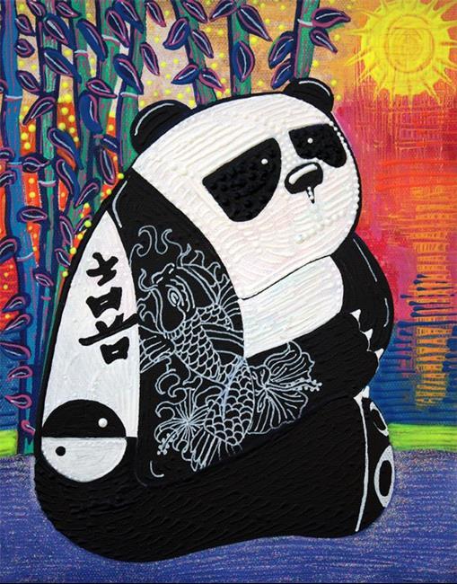Art: Panda Zen Master by Artist Laura Barbosa