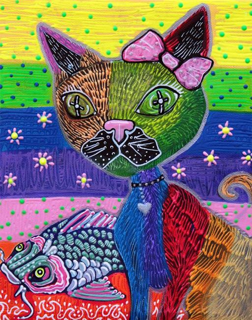 Art: The Cat and The Koi by Artist Laura Barbosa