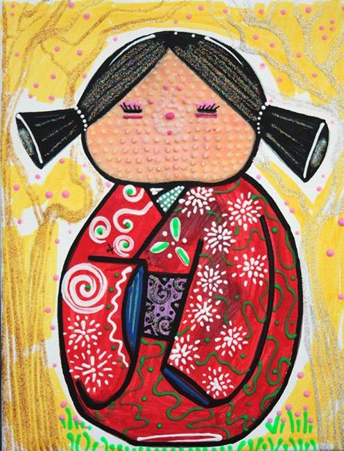 Art: Kokeshi by Artist Laura Barbosa