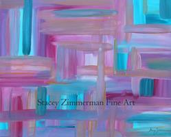 Art: Sunset Abstract by Artist Stacey R. Zimmerman