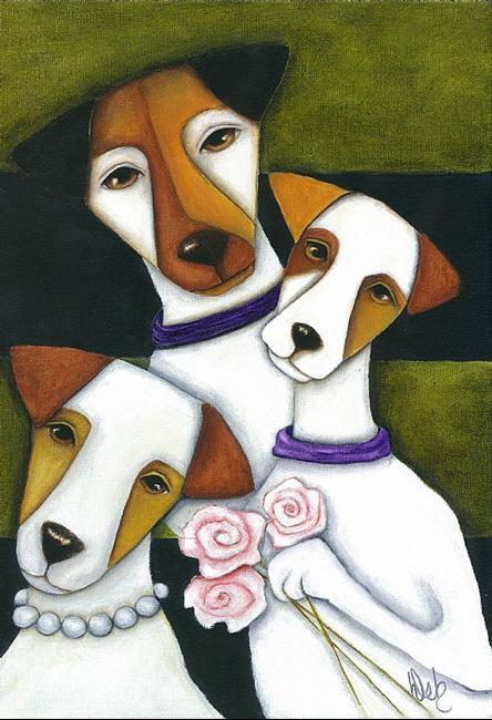 Art: The 3 JRTs by Artist Deb Harvey