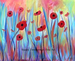 Art: Poppy Symphony by Artist Stacey R. Zimmerman