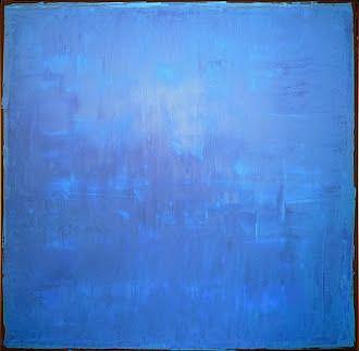 Art: Blue Abstraction 100x100x4 by Artist Luba Lubin