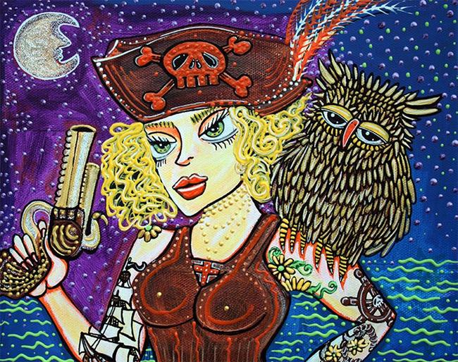 Art: Pirate Quest For The Golden Owl by Artist Laura Barbosa