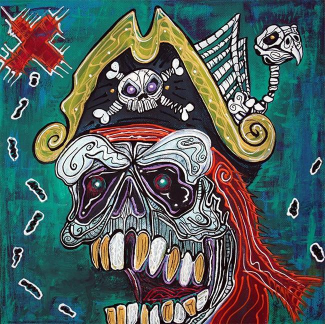 Art: Pirate Treasure Map by Artist Laura Barbosa