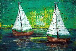 Art: Sail Away With Me by Artist Laura Barbosa