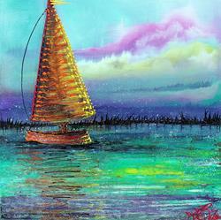 Art: Sailboat Cruise by Artist Laura Barbosa