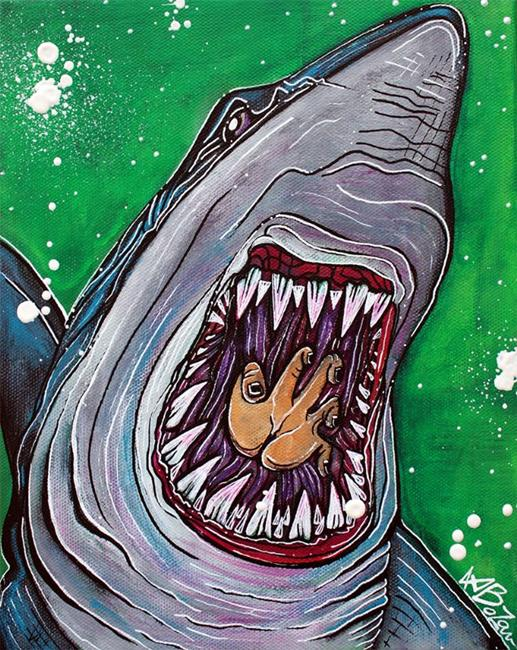 Art: Shark Kill Zone by Artist Laura Barbosa