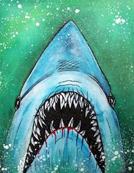 Art: Spawn of Jaws by Artist Laura Barbosa