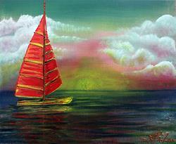 Art: Sail The Horizon by Artist Laura Barbosa