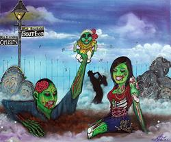 Art: Zombie Family by Artist Laura Barbosa