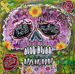 Art: Craneo Rosado De Los Muertos by Artist Laura Barbosa
