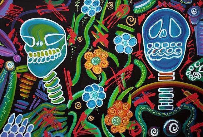 Art: Sugar Skull Spirits 2 by Artist Laura Barbosa