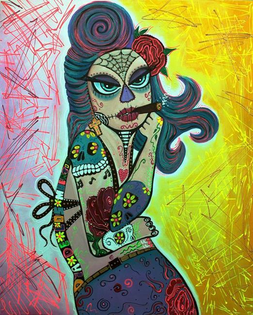 Art: Maria De Los Muertos 2 by Artist Laura Barbosa