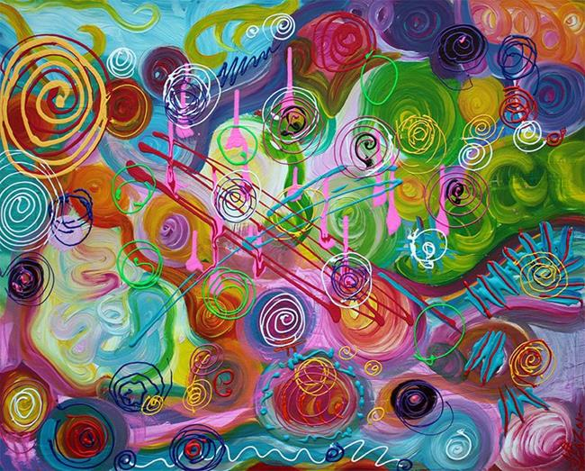 Art: Seeking Happiness by Artist Laura Barbosa