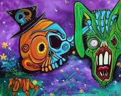 Art: Magician De Los Muertos by Artist Laura Barbosa