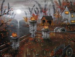 Art: Halloween Harvest.jpg by Artist J A Blackwell