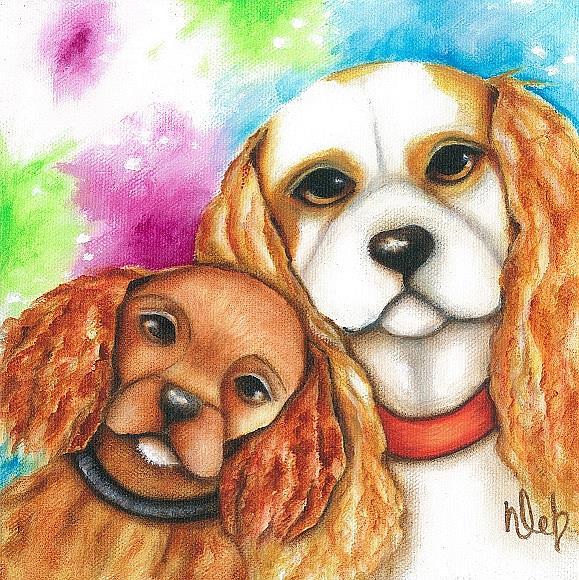 Art: Charlie And Gemma by Artist Deb Harvey