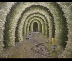 Art: Through the Keyhole by Artist J A Blackwell