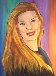 Art: Portrait of Kelli Ann Dubay by Artist Amanda Hone