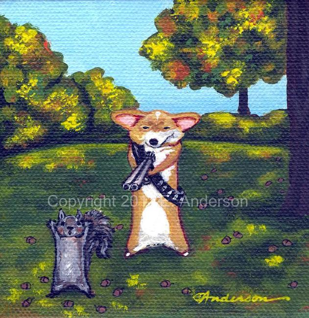 Art: Squirrel Patrol by Artist Evie M. Anderson