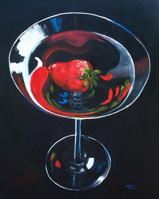 Art: Strawberry Martini by Artist Torrie Smiley