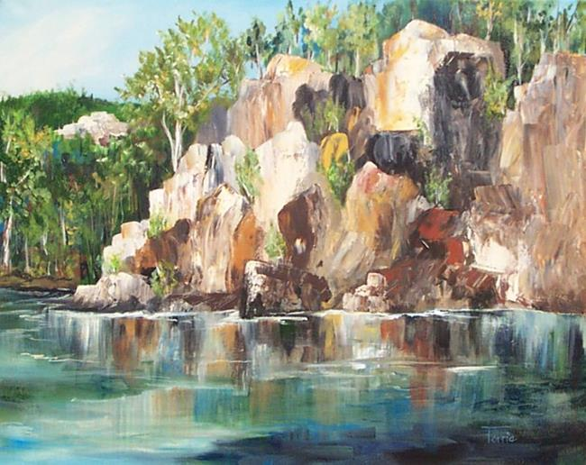 Art: The Rocks of Lake Lure by Artist Torrie Smiley
