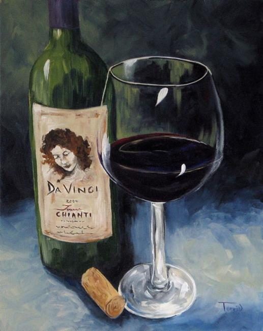Art: DaVinci Chianti for One  by Artist Torrie Smiley